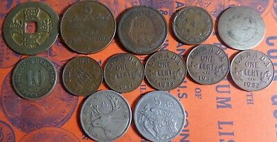 Mixed Lot of Old Coins 1874 10 Pfenning 1920 5 Ore AU/BU Canada 1 C 1921 1931