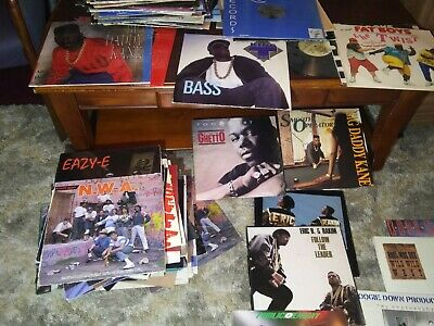 Vinyl Record Lot of 10 Rap,R&B, HIP HOP & More DJ PROMO Collection 1980s -1990s