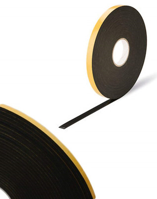 Double Sided Foam Tape - Black - 2mm x 10mm x 25m - Security / Glazing / Craft