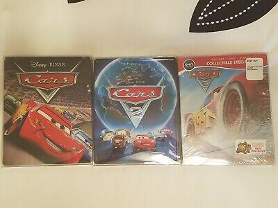 Cars Disney Pixar Steelbook - bluray - Trilogy
