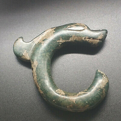 Red Mountain China Red Mountain Culture Hand-carved Jade Long hook Ancient
