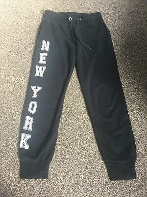 Girls New York Jogging Bottoms Black Great Condition Matalan Age 8-9 Years