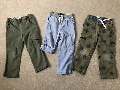 Three Pairs Of Boys Mini Boden Trousers Age 3 Years