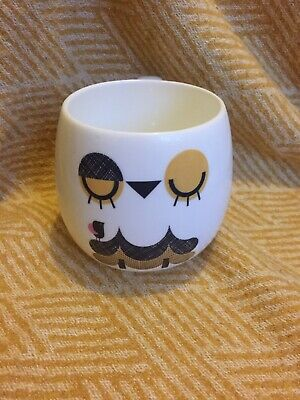 Camila Prada FLOSS OWL The Cosy Collection 2019 Mug Cup Cute Retro Sleepy Bird