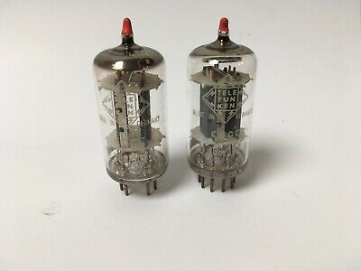 EXTREMELY RARE Pair Telefunken 5965 Tubes Selected Wing Plate <> Upgrade 12AT7