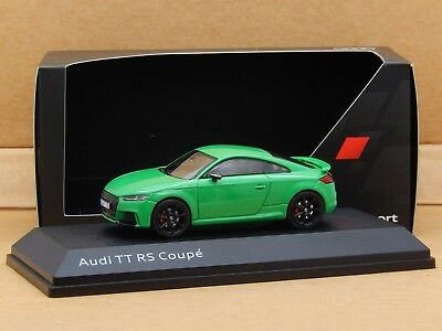 1/43 Audi TT RS Coupe 2016 Green iScale Diecast Model Audi Dealer Box