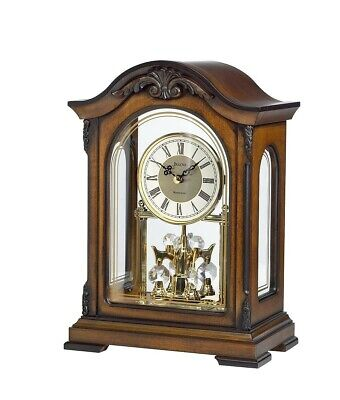 London clock Co wooden rotating pendulum Westminster chime table clock 12032