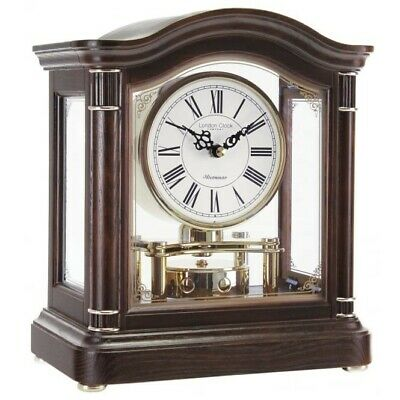 London clock Co wooden rotating pendulum Westminster chime table clock 12036