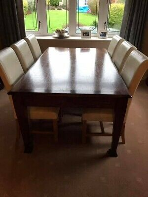 Arts And Crafts Solid Oak Dining Table