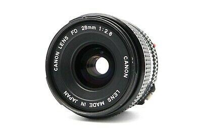 <Excellent> Canon NEW FD 28mm F/2.8 Lens Wide Angle MF NFD from Japan
