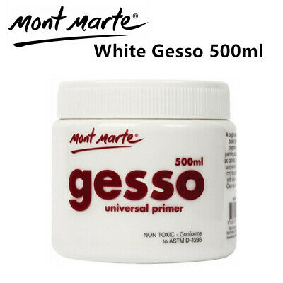 Mont Marte White Gesso Universal Primier White 500ml Art Supply Acrylic Painting