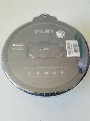 PABY 3G GPS Pet Tracker & Activity Monitor includes SIM!!