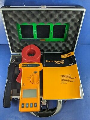 Fluke 1630 Earth Ground Clamp, Excellent, Case, More