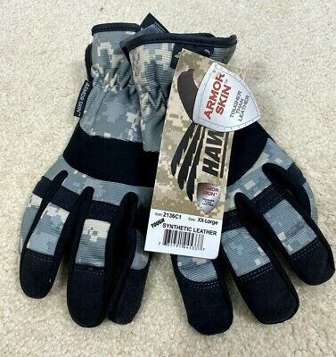 Mechanics Work Gloves Synthetic Leather Back Spandex Washable L