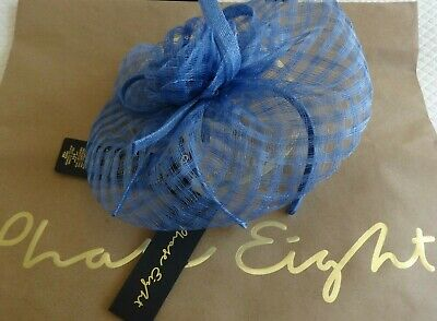 PHASE EIGHT Rosa Cornflower Weave Effect Fascinator - Only worn 2hrs at Wedding!
