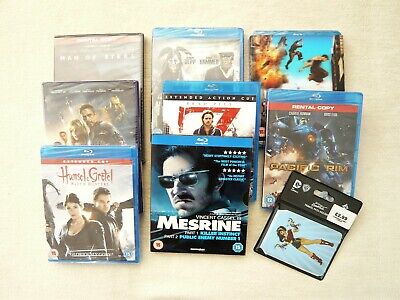 Bundle Science Fiction etc 6 Blu Rays + 2 DVDs + free travel wallet New + sealed