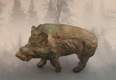 Wonderful French Solid Bronze Statue of A Wild Boar ~ No Reserve!