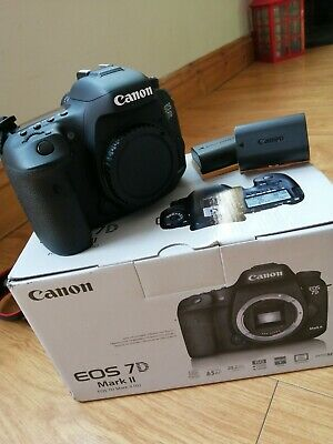 Canon 7d mk ii (two) Boxed body with 2 x batteries charger + neck strap 7d mk 2