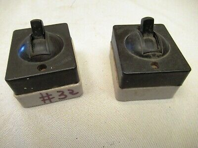 Vintage Electric Switches Bakelite & Porcelain Black Color By Khosla 5Amp 250*32