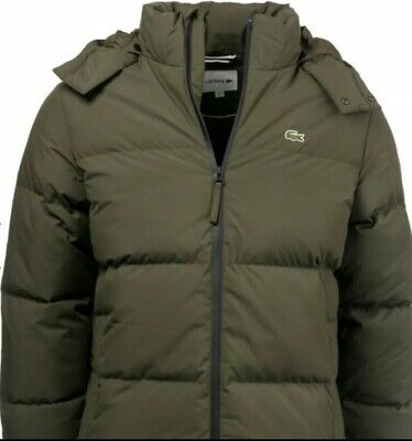NEW Lacoste Mens Puffer Jacket BH 9358 Green  RRP £315.00  Size 54 XL
