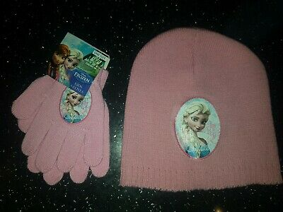 Disney Frozen Elsa Wolly Hat And Glove Set One Size