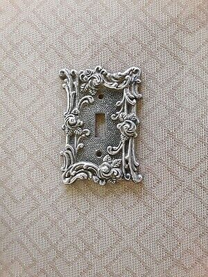 1967 American Tack & Hardware. #60T Brass Roses Light Switch Plate Gold Color GC