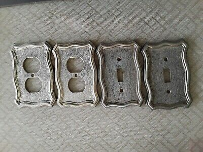Vintage Set Of 4 1968 American Tack And Hardware Outlet Socket Plate Covers Gc!!
