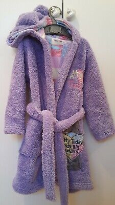 Girls M&S dressing gown age 3-4 teddy
