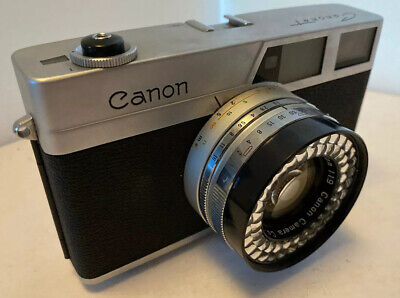 Vintage Canon Canonet 1st MODEL 35mm Film Rangefinder Camera 1960s, Great Condn.