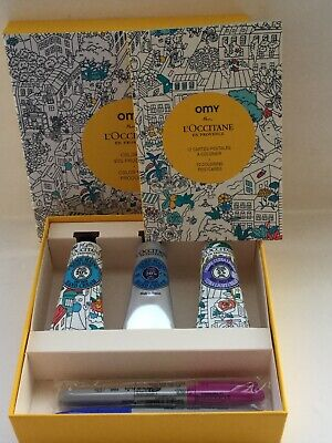 L'Occitane x OMY Limited Edition Hand Cream & Postcards Set With Pens
