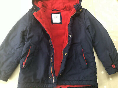 Mini Boden boys coat - age 7-8 yrs - navy blue/red