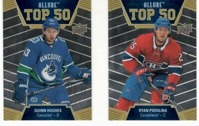 2019-20 Ud Upper Deck Allure Top 50 You Pick Free Combined Shipping