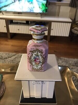 Beautiful Porcelain De France Perfume Bottle Probably Turn Of The Century