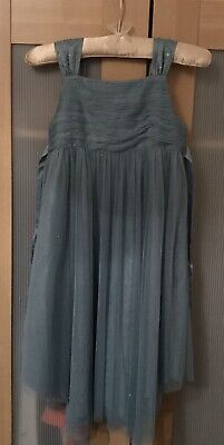 *WORN ONCE* Monsoon Girls Dress Pale Blue/Green Party/ Bridesmaid  Age 10-11 yrs
