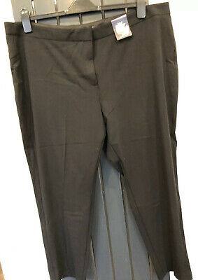 M & S Marks and Spencer Slim Fit Black Trousers UK 22 Short BNWT