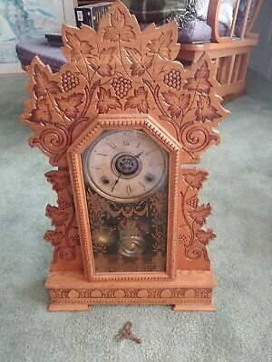 Gilbert Concord Gingerbread Mantel Clock with alarm