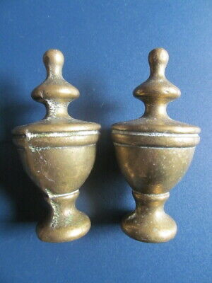 Victorian solid brass .  small  Finials  (two)