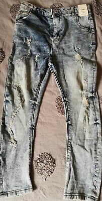 River Island Boys ripped distressed Jeans Size 8 Years New