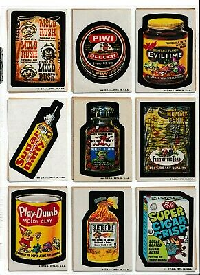 1974 Topps Wacky Packages 6th Series 6 COMPLETE SET 33 EX+ puzzle