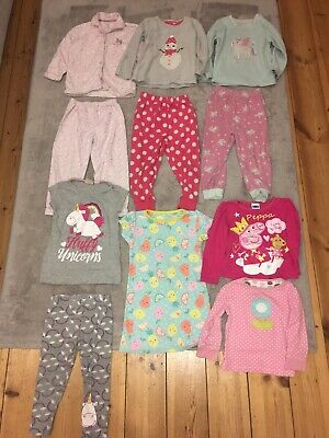 Girls 2-3 3-4 Pyjamas Bundle Winter Long Sleeve Long Leg Peppa pig Fleece
