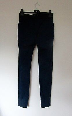 Navy Stretch Jeggings Size 6 to 8. Elasticated Waist Skinny Leggings
