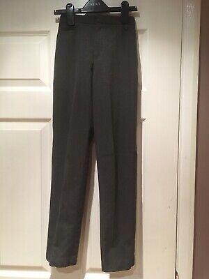 Boy's Marks & Spencer Grey Skinny School Trousers Aged 10-11 Years RRP £12