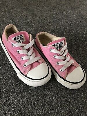 Girls Pink Converse Infant Size 7UK, Used Good Condition