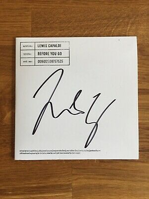 Lewis Capaldi - Before You Go - VERY Limited Edition White Label CD *SIGNED*