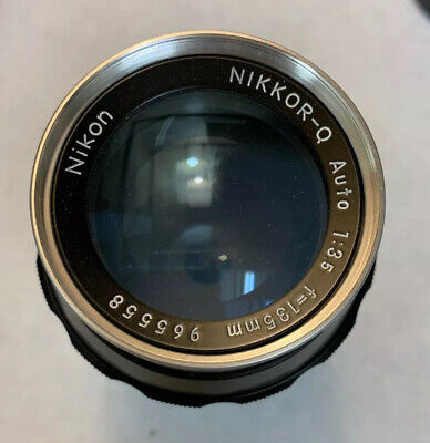 Near Mint Nikon Nikkor-Q Auto 135mm f/3.5 Manual Lens Japan Original Box