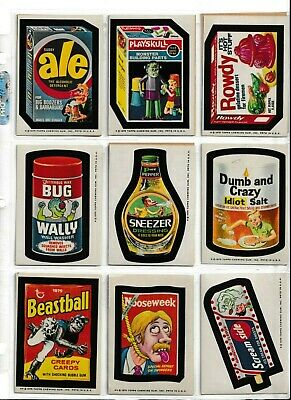 1975 Topps Wacky Packages 13th Series 13 COMPLETE a SET lot of 13 EX-NM