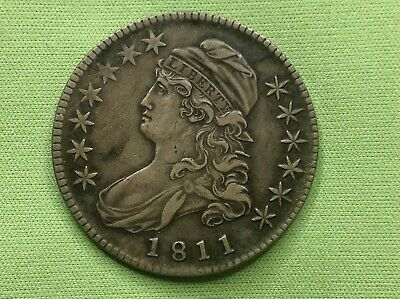 1811 Capped Bust Half Dollar TOUGH DATE!  HIGHER GRADE DETAIL!!   L@@K!