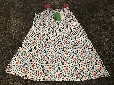 Mountain Warehouse Girls White With Star Design Dress Age 11-12 Years BNWT