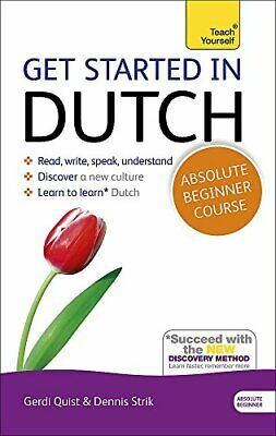 GET STARTED IN DUTCH: A TECH YOURSELF PROGRAM WITH AUDIO By Dennis Strik *VG+*