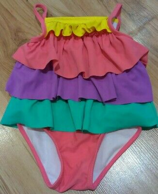 Baby Girl Mothercare Swimming Costume Swim Suit Summer Rainbow Age 6-9months